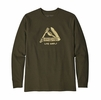 Patagonia Mens Long Sleeve Live Simply Pocketknife Responisibili-Tee Sediment
