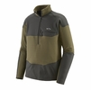 Patagonia Mens Long-Sleeve R1 Fitz Roy 1/4 Zip Sage Khaki (Close Out)