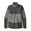 Patagonia Mens Long Sleeve R1 Fitz Roy Zip Feather Grey
