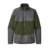 Patagonia Mens Long Sleeve R1 Fitz Roy Zip Nomad Green