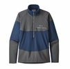 Patagonia Mens Long Sleeve R1 Fitz Roy Zip Stone Blue