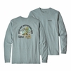 Patagonia Mens Long Sleeve Save Our Watersheds Responsibili-Tee Cadet Blue  (close out)