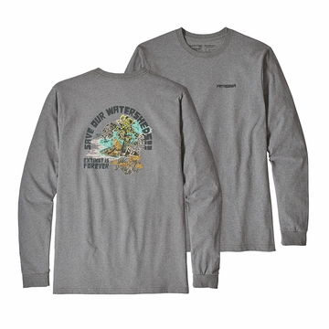 Patagonia Mens Long Sleeve Save Our Watersheds Responsibili-Tee Gravel Heather