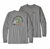 Patagonia Mens Long Sleeve Save Our Watersheds Responsibili-Tee Gravel Heather   (close out)