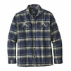 Patagonia Mens Long-Sleeved Fjord Flannel Shirt Activist: Navy Blue