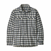 Patagonia Mens Long-Sleeved Fjord Flannel Shirt Castroville: Oyster White