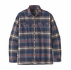 Patagonia Mens Long-Sleeved Fjord Flannel Shirt Defender: New Navy
