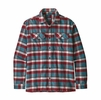 Patagonia Mens Long-Sleeved Fjord Flannel Shirt Observer: Tasmanian Teal (Close Out)