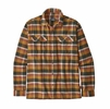 Patagonia Mens Long-Sleeved Fjord Flannel Shirt Observer: Wren Gold (Close Out)
