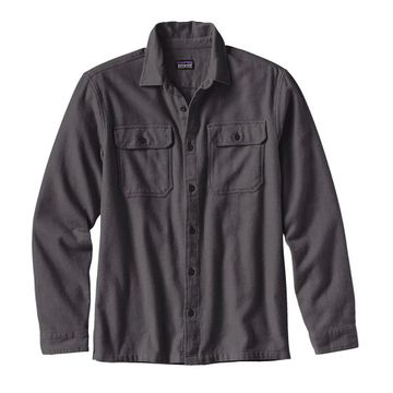 Patagonia Mens Long-Sleeved Fjord Flannel Shirt Forge Grey