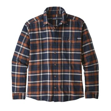 Patagonia Mens Long-Sleeved Lightweight Fjord Flannel Shirt Tom's Place: Navy Blue