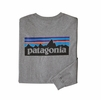 Patagonia Mens Long-Sleeved P-6 Logo Responsibili-Tee Gravel Heather