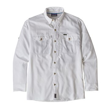 Patagonia Mens Long-Sleeved Sol Patrol II Shirt White (Close Out)