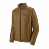 Patagonia Mens Nano Puff Jacket Coriander Brown w/ River Delta Multi: Smolder Blue