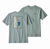 Patagonia Mens OG Ice Tools Responsibili-Tee Cadet Blue  (close out)