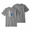 Patagonia Mens OG Ice Tools Responsibili-Tee Gravel Heather  (close out)