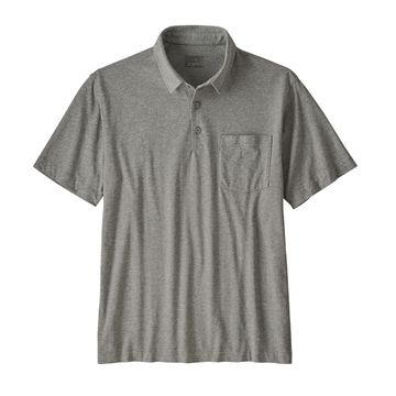 Patagonia Mens Organic Cotton Lightweight Polo Feather Grey