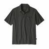 Patagonia Mens Organic Cotton Lightweight Polo Wavy Dobby: Forge Grey