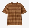 Patagonia Mens Organic Cotton Midweight Pocket Tee Boll Stripe: Earthworm Brown (Close Out)