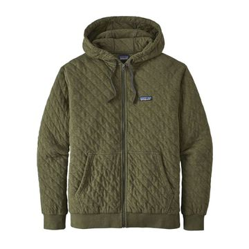 Patagonia Mens Organic Cotton Quilt Hoody Industrial Green (Close Out)