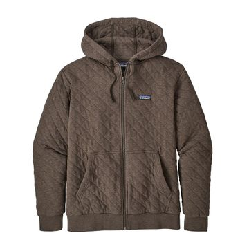 Patagonia Mens Organic Cotton Quilt Hoody Logwood Brown (Close Out)