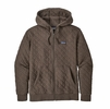 Patagonia Mens Organic Cotton Quilt Hoody Logwood Brown