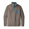 Patagonia Mens Organic Cotton Quilt Snap-T Pullover Burnie Brown (Close Out)