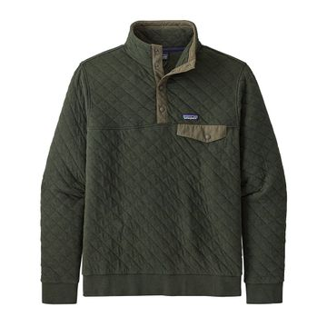 Patagonia Mens Organic Cotton Quilt Snap-T Pullover Kelp Forest