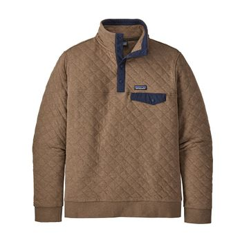 Patagonia Mens Organic Cotton Quilt Snap-T Pullover Owl Brown