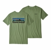 Patagonia Mens P-6 Logo Organic Cotton T-Shirt Matcha Green