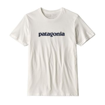 Patagonia Mens P-6 Logo Organic Cotton T-Shirt White (Close Out)
