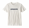 Patagonia Mens P-6 Logo Organic Cotton T-Shirt White