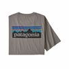 Patagonia Mens P-6 Logo Organic T-Shirt Feather Grey