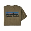 Patagonia Mens P-6 Logo Organic T-Shirt Sage Khaki (Close Out)