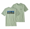 Patagonia Mens P-6 Logo Pocket Responsibili-Tee Lite Distilled Green (Close Out)
