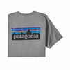 Patagonia Mens P-6 Logo Responsibili-Tee Gravel Heather
