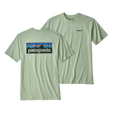 Patagonia Mens P-6 Logo Responsibili-Tee Lite Distilled Green (Close Out)