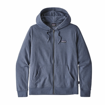 Patagonia Mens P6 Label Lightweight Full Zip Hoody Dolomite Blue (Close Out)