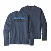 Patagonia Mens P6 Logo Lightwight Crew Sweatshirt Dolomite Blue