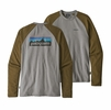 Patagonia Mens P6 Logo Lightwight Crew Sweatshirt Feather Grey