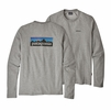 Patagonia Mens P6 Logo Lightwight Crew Sweatshirt Forge Grey