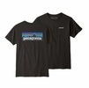 Patagonia Mens P6 Logo Organic T Shirt Black (Close Out)
