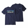 Patagonia Mens P6 Logo Organic T Shirt Classic Navy (Close Out)