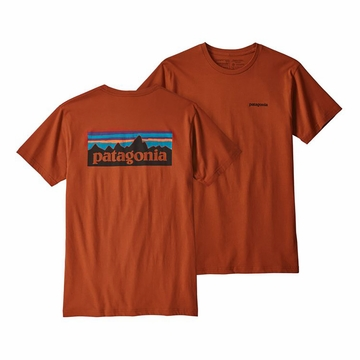 Patagonia Mens P6 Logo Organic T Shirt Copper Ore (close out)