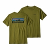 Patagonia Mens P6 Logo Organic T Shirt Willow Herb Green