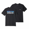 Patagonia Mens P6 Logo Pocket Responsibili-Tee Black (Close Out)