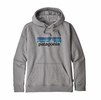 Patagonia Mens P6 Logo Uprisal Hoody Gravel Heather