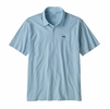 Patagonia Mens Polo Trout Fitz Roy Big Sky Blue