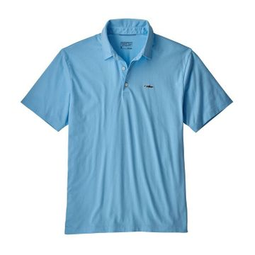 Patagonia Mens Polo Trout Fitz Roy Break Up Blue (Close Out)