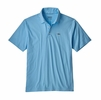 Patagonia Mens Polo Trout Fitz Roy Break Up Blue